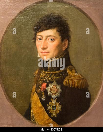 19th century - General Officer Lefèbvre-Desnouettes, Count of the Empire - Weingandt 1807 Musée de l'Armée - Stock Image