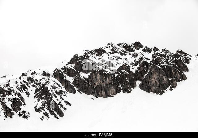Austria, Tyrol, Winter Alps - Stock Image