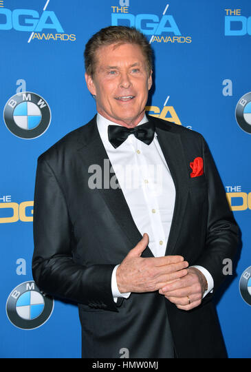 LOS ANGELES, CA. February 4, 2017: Actor David Hasselhoff at the 69th Annual Directors Guild of America Awards (DGA - Stock Image