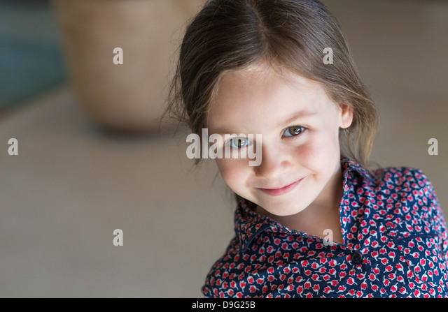 Portrait of a girl smiling - Stock Image