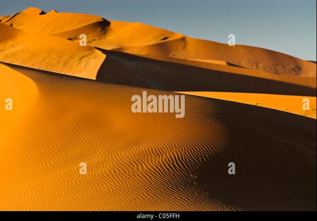 Desert landscape Sossusvlei Namibia - Stock Image