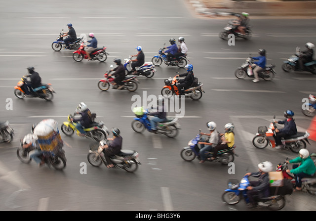 Motorcycles in bangkok - Stock Image