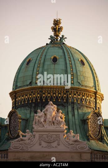 Vienna Hofburg Detail Michaelerkuppel - Stock Image