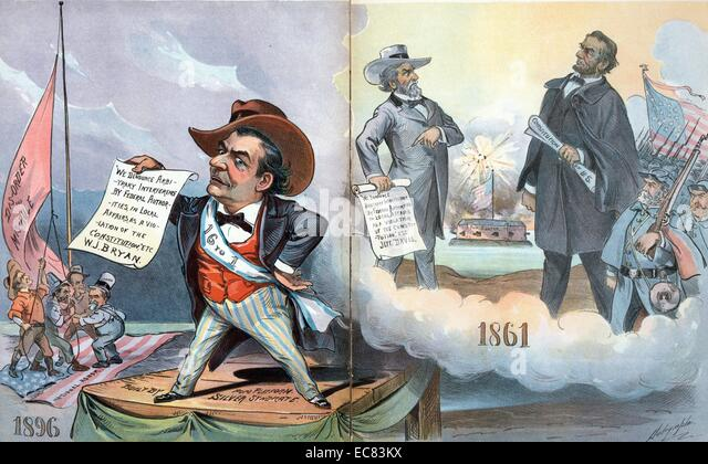 History repeats itself by Louis Dalrymple, 1896. - Stock Image