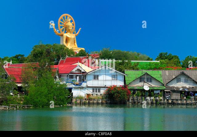 Lagoon, Big Buddha, Koh Samui, Thailand, Asia, hoses, water - Stock Image