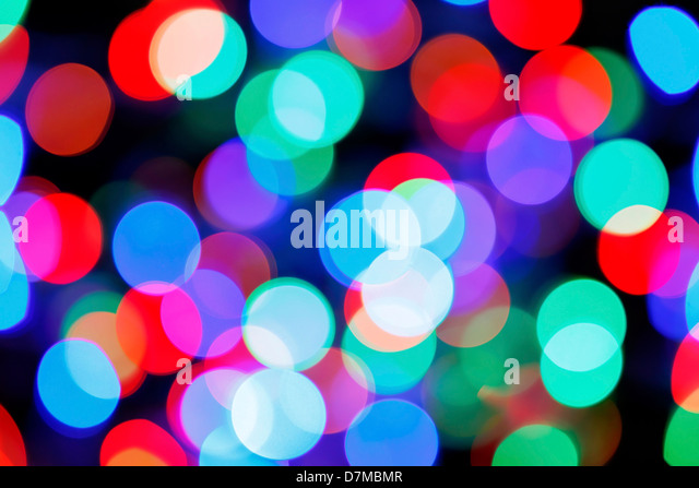 Coloured lights - Stock Image