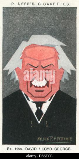 David Lloyd George  1st Earl Lloyd George Of Dwyfor - Stock Image