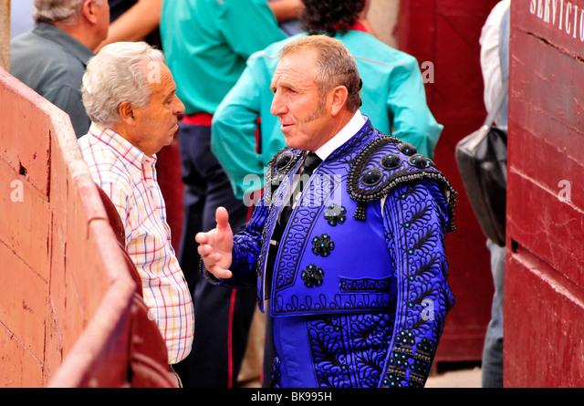 Bull fighter before his performance in Las Ventas Bullring, Madrid, Spain, Iberian Peninsula, Europe - Stock-Bilder