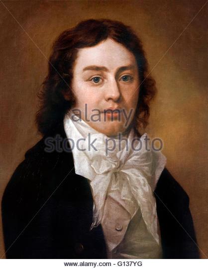 Samuel Taylor Coleridge (1772-1834), portrait by Peter Vandyke, oil on canvas, 1795 - Stock-Bilder