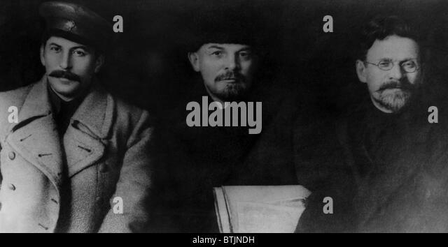 Josef Stalin, Vladimir Lenin, Mikhail Kalinin, at the VIII Congress of the Communist Party of the Soviet Union, - Stock Image