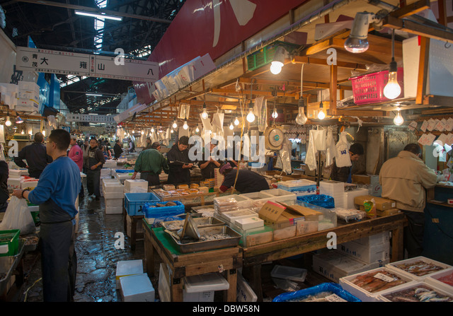 Japan fish market stock photos japan fish market stock for Tokyo fish market