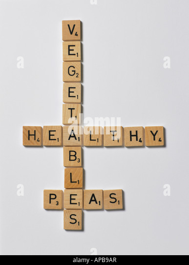 scrabble letters - Stock Image