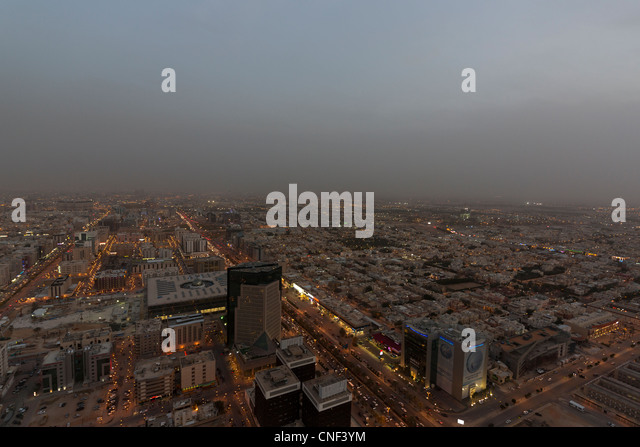 view of Riyadh, Saudi Arabia - Stock Image