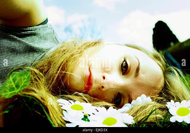 Girl in summer - Stock Image