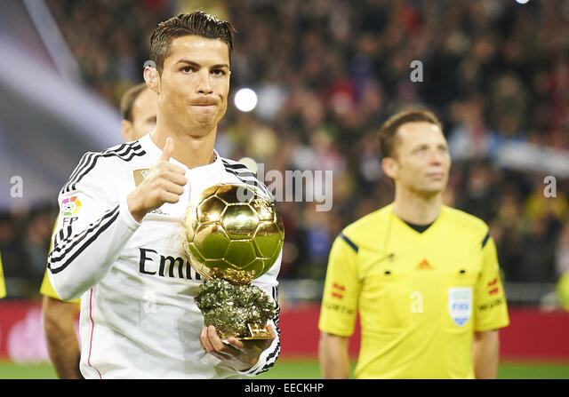 Madrid, Spain. 15th Jan, 2015. Cristiano Ronaldo during the Copa del Rey, round of 8 match between Real Madrid and - Stock-Bilder
