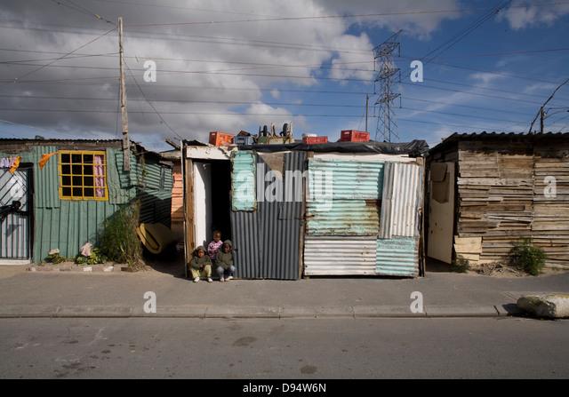 Khayelitsha Township Western Cape - Stock-Bilder