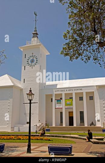 Hamilton Bermuda City Hall Arts Centre - Stock Image