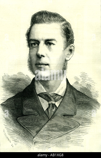 Joseph Chamberlain 1885 U K liberal statesman attracking much attention born 1836 - Stock-Bilder