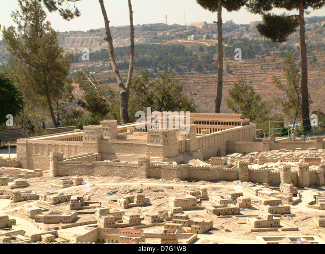 holyland model of ancient jerusalem - Stock Image