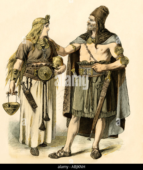 Europeans of the Bronze Age - Stock Image