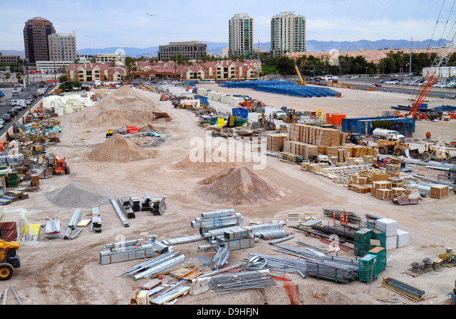 Nevada Las Vegas Winnick Avenue construction economic development - Stock Image