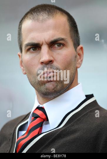 Coach Markus Babbel, VfB Stuttgart, tense - Stock Image