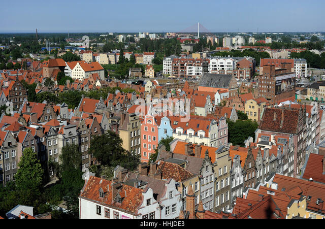 Poland. Gdansk. Historical center. - Stock Image