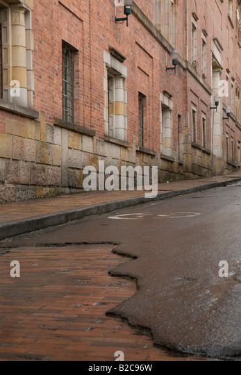 Streets in the Candelaria, Bogota - Stock Image