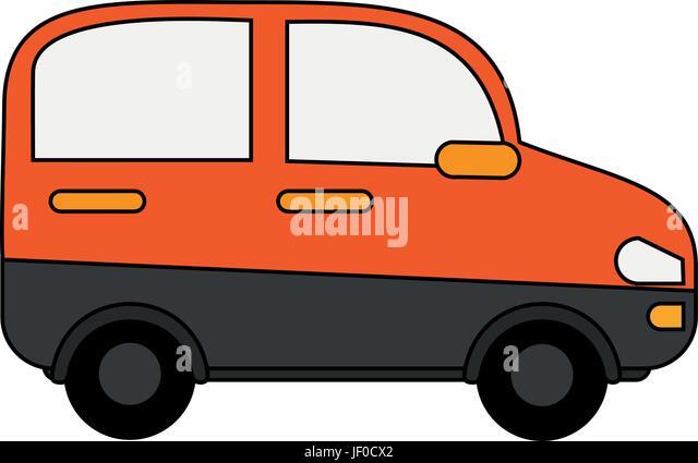 Orange minivan design - Stock Image