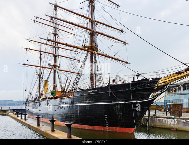 The RRS Discovery (Scott's Antarctic Expedition vessel), Dundee, Central Lowlands, Scotland, UK - Stock Image