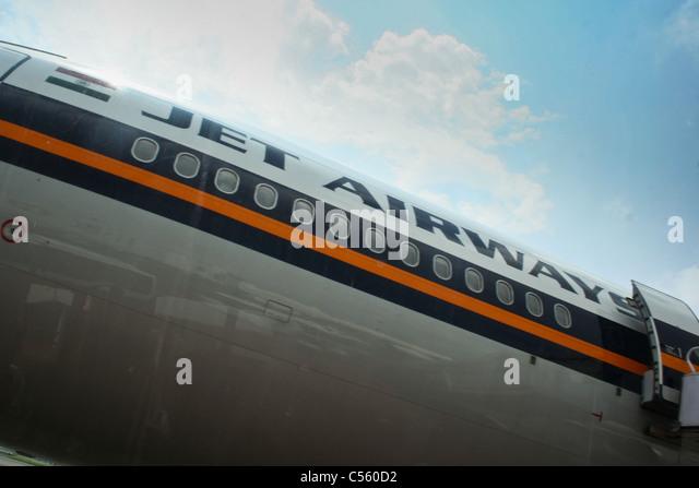 Jetairways Plane livery Fuselage planes aviation - Stock Image