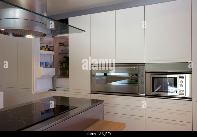 Built in cabinet stock photos built in cabinet stock for Stove top with built in vent