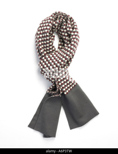 mens scarf stylishly tied - Stock Image