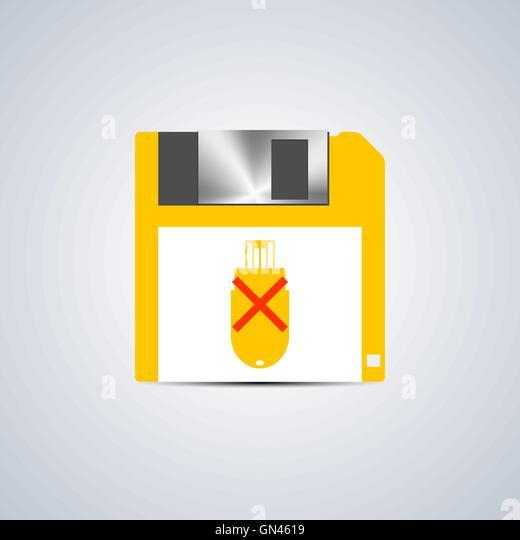 Icon write error, vector illustration. - Stock Image
