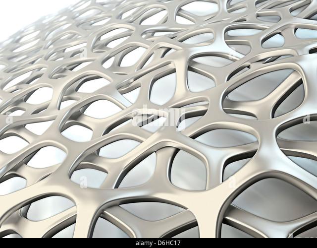 Organic mesh, artwork - Stock Image