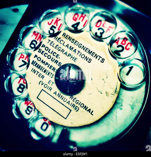Communication in analog era - Stock Image