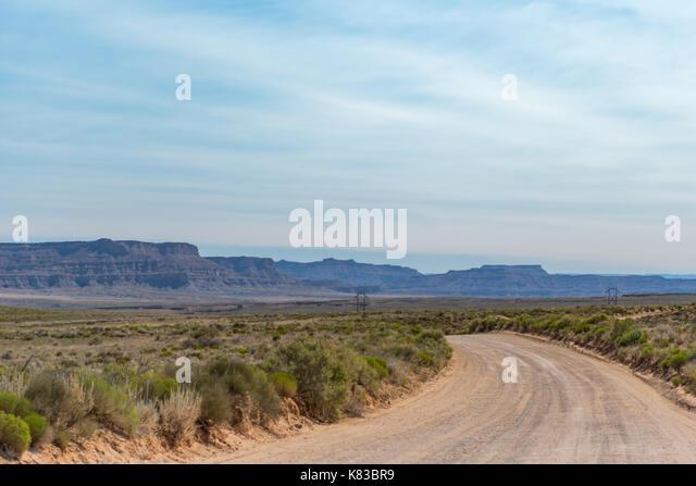 Dirt Road Through Utah Wilderness in Escalante - Stock Image