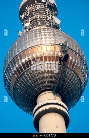 Television tower at the Alexanderplatz in Berlin. - Stock-Bilder