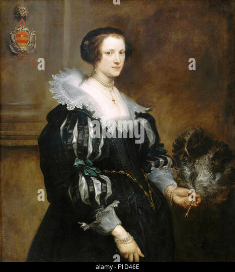 Anthony Van Dyck - Portrait of Anna Wake - Stock Image