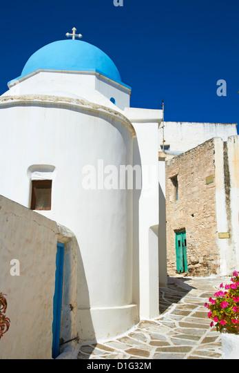 Traditional village of Lefkes, Paros, Cyclades, Aegean, Greek Islands, Greece, Europe - Stock Image
