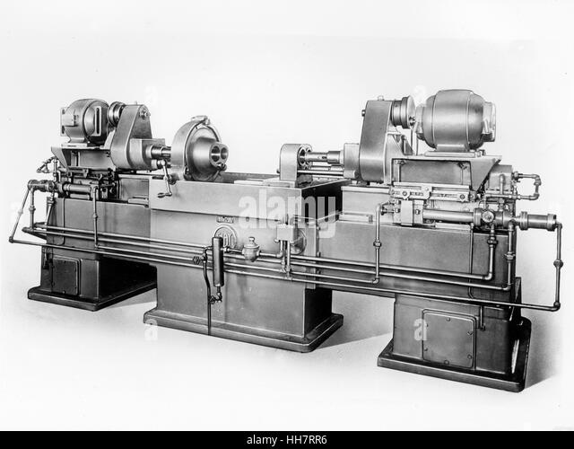 1930 - 40. Fiat - Ansaldo machine. Motors components. - Stock Image