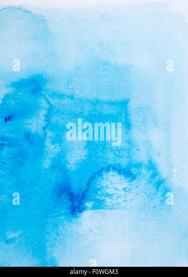 Abstract blue watercolor hand paint texture - Stock Image