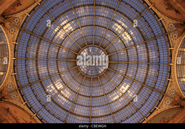 Italy, Lombardy, Milan, Galleria Vittorio Emanuele II, shopping arcade, - Stock Image