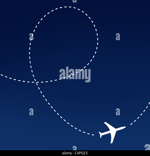 Airplane route - Stock Image