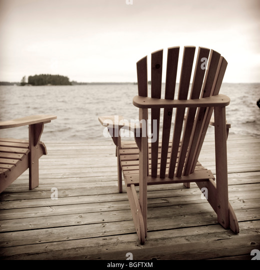 Muskoka Deck Chairs Stock Photos & Muskoka Deck Chairs