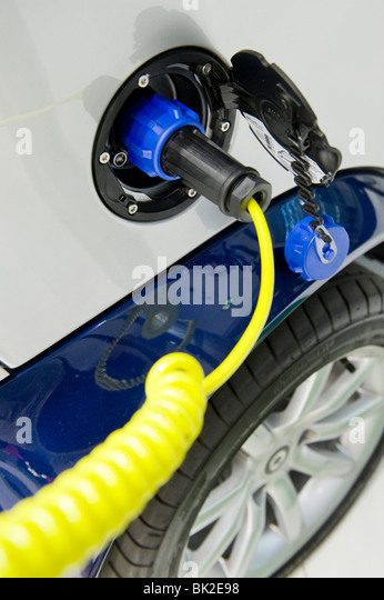 Experimental electric and hybrid cars are on display at the Motor Show, London, 24 July 2008. - Stock Image