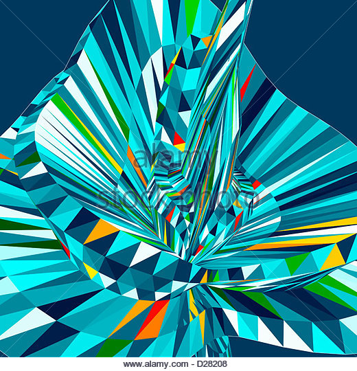 Abstract 3d flower pattern - Stock Image