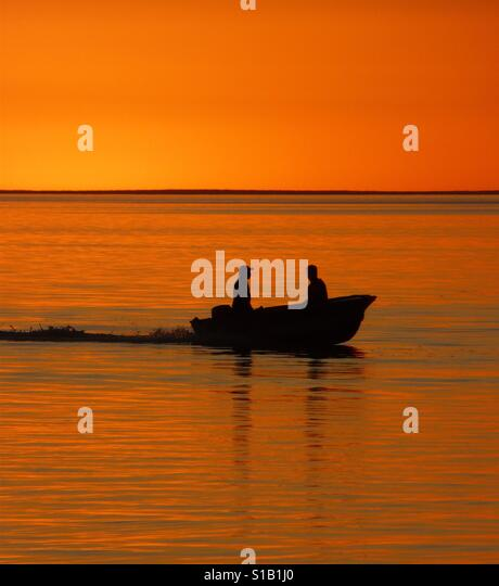 Sunset in Denham, Western Australia - Stock Image