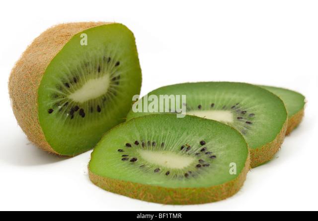 kiwi fruit, isolated on the white background. macro isolated - Stock Image