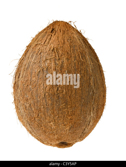 cut out of coconut - Stock Image